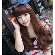 angelaicos naisten Korean tyyliin pitkä aaltoileva kihara päivittäistä kulutusta viehättävä yökerho bar osapuoli glamour seksikäs hiukset täynnä