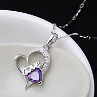 Ladies'/Women's Sterling Silver Necklace With Cubic Zirconia
