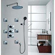 American Standard Brusehaner Moderne Termostatisk/Regnbruser/Håndbruser inkluderet Messing Krom