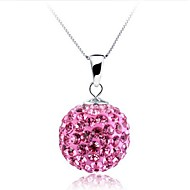 Ladies' Silver Ball Rhinestone Necklace