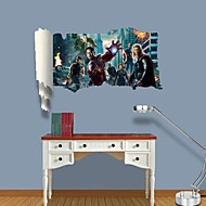 3D Wall Stickers Wall Decals, The Avengers Decor Vinyl Wall Stickers