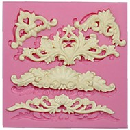 Europejski formy koronki silikonowy do dekoracji tortu kremówki