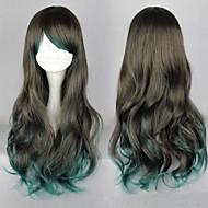 mode meisje dubbele kleur grote golven van hoge kwaliteit synthetisch haar