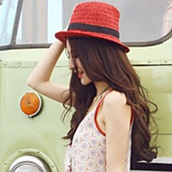Women's Vintage/Casual Leisure Bowknot Summer Straw Fedora Hat