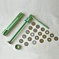 20Discs Sugarcraft Tool Sugar Paste Extruder For Clay Fimo Craft Gun Cake Sculpture Decoration