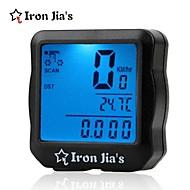 Bike Tietokoneet Pyöräily/Maantiepyörä/MTB/BMX -Vedenkestävä/Sekunttikello/LED-valo/Kello/Lämpötilan näyttö/Pimeänäkö/Nopeuden