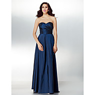 Formal Evening Dress - Dark Navy A-line Sweetheart Floor-length Taffeta