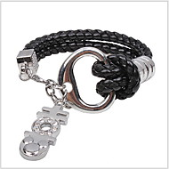 New Fashion Alloy Accessory Leather Bracelet