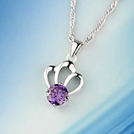 Imperial Crown Ladies'/Women's Sterling Silver Necklace With Crystal