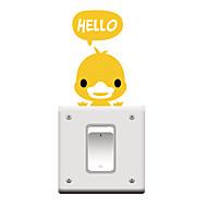 switch wall stickers Vægoverføringsbilleder, tegneserie duck pvc skifte mærkat