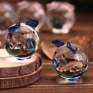 de coco do bolo de coco do bolo corações adorável vidro porcos casal cristal (cores aleatórias)