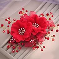Fleurs Casque Mariage Strass/Tulle Femme/Jeune bouquetière Mariage