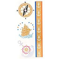 Outros Tatuagem Adesiva - Estampado/Lombar/Waterproof - para Feminino/Adulto/Adolescente - de Papel - Multicolorido - 25.5*10.5cm 1