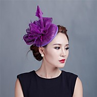 dame vintage sinamay fjer fascinators hatte brude fascinator