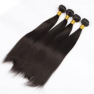 4Pcs/lot 30inch Raw Brazilian Virgin Hair Natural Black Straight Human Hair Weaving Weft