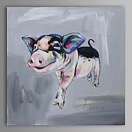 peinture à l'huile moderne main de porc abstraite toile avec cadre étiré peint
