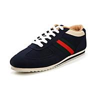 Herenschoenen Casual Imitatiesuède Modieuze sneakers Zwart/Marine