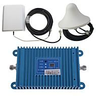 intelligens dual band GSM / 3G 900 / 2100MHz mobiltelefon signal repeater booster forstærker + udendørs panel antenne kit