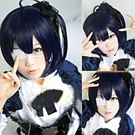 Angelaicos Women Chuunibyou Demo Koi Ga Shitai! Takanashi Rikka Lovely Girl Dark Blue Cosplay Costume Party Bob Wig