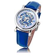 ST.PATRICK-Women's European Style Pierced Genuine Leather Band Automatic mechanical Wrist Watch