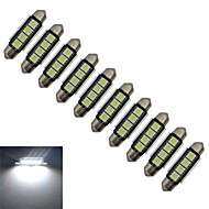 JIAWEN® 10pcs Festoon 42mm 1.5W 4x5050SMD 80-90LM 6000-6500K Cool White Light LED Car Light (DC 12V)