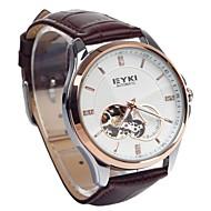 EYKI EFL8629G Retro PU Leather Band Self-Winding Mechanical Wrist Watch (Assorted Color)