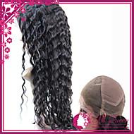 """calidad promoción peluca llena del cordón del pelo humano superior de seda 130% # 1 # 1b # 2 # 4 sin cola onda profunda pelucas 10 """"-30"""""""