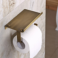 Çok fonksiyonlu antika pirinç kaplama pirinç malzeme tuvalet kağıdı tutucuları