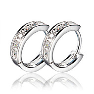 Woman's Party/Casual Silver Hoop Earrings(1pc)