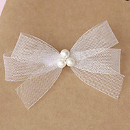 Women Tulle Imitation Pearl Flowers With Wedding Headpiece(More Colors)