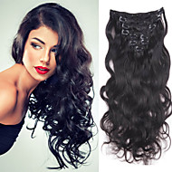 10inch-30inch 120g clip in brazilian hair extensions kleur (# 1 # 1b # 613) body wave clip in extensions