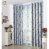um painel de folha verde impressão apagão cortina