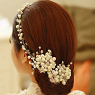 Capacete Alfinete de Cabelo/Flores Casamento/Ocasião Especial/Casual Crostal/Liga/Imitação de Pérola Mulheres/Menina das Flores
