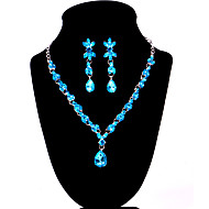Women's Alloy Wedding/Party Jewelry Set With Rhinestone