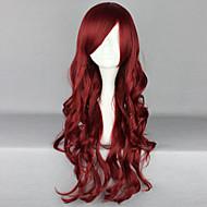 Fashion Cartoon Dark Red Curly Hair Wig