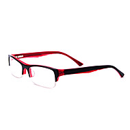 [Free Lenses] Acetate Rectangle Half-Rim Fashion Prescription Eyeglasses