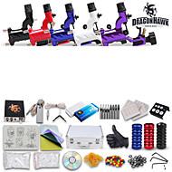 Tattoo Kit New 5 Rotary Machine Guns Set Equipment Power Supply