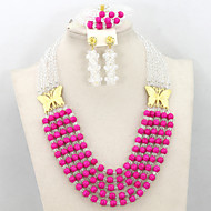 2015 Latest Fashion Turquoise Beads Jewelry Set African Women Party Jewelry Set Bride Gift Set