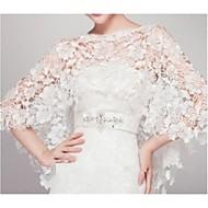 Wedding  Wraps Capelets Sleeveless Lace Ivory