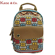 Kate&Co.® Women's Bohemia Stylish Canvas Leather Small Backpacker