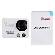 """aoluguya x5 2 """"TFT 12MP fuld hd 2k wifi sport dv digital video kamera og mobil magt bank eu stik (assorterede farver)"""