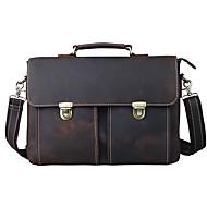 Men's Leather Business Briefcase Single Shoulder Bag Computer Bag Leather