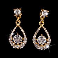 Women's Gold/Alloy Drop Earrings With Crystal Diamond Wedding earring