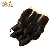 "10""-20"" Black Full Lace Curly Human Hair Closure Medium Brown Chinese Lace 60g/piece gram Cap Size"