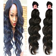 3stk / lot 8 '' ~ 34 '' naturlige sorte farve peruviansk naturlig bølge hår væve