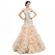 Trumpet/Mermaid Floor-length Wedding Dress -Jewel Organza