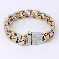 Pánské Řetězové & Ploché Náramky Náramek Pozlacené Jedinečný design Módní minimalistický styl Šperky Barva obrazovky Šperky 1ks