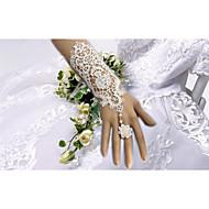 Ellebooglengte Zonder vingers Handschoen Bruidshandschoenen / Feest/uitgaanshandschoenen Lente / Zomer / Herfst / Winter Bloemen