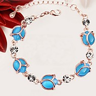 Ladies'/Women's Alloy Chain With Opal/Rhinestone Bracelet(More Color)