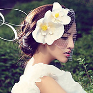Women Satin/Net Fascinators/Flowers With Wedding/Party Headpiece